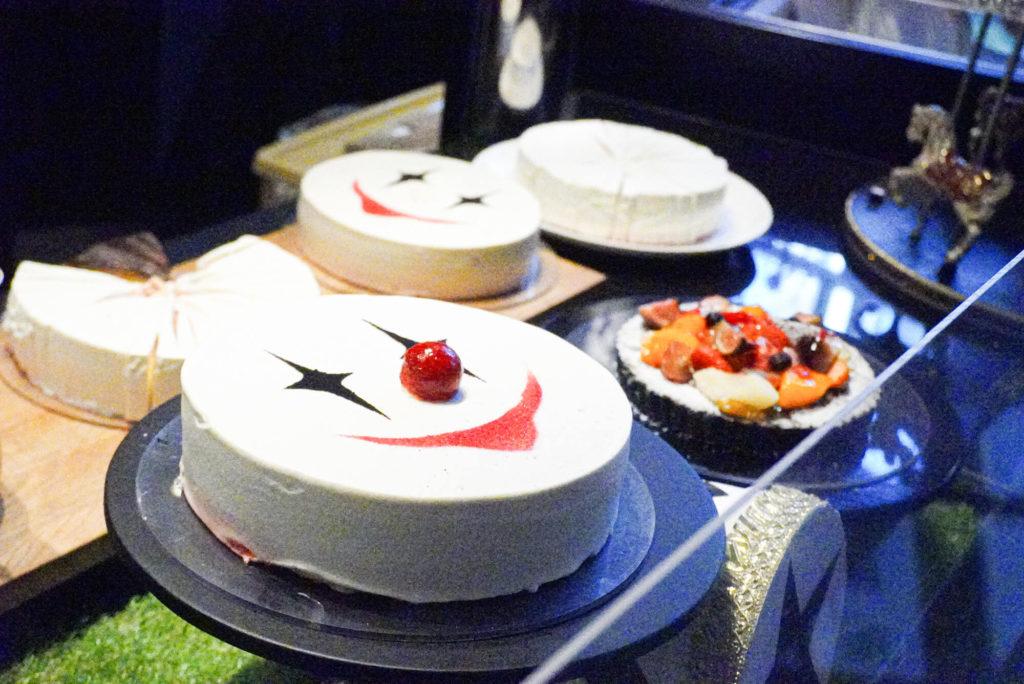 ビュッフェのケーキ