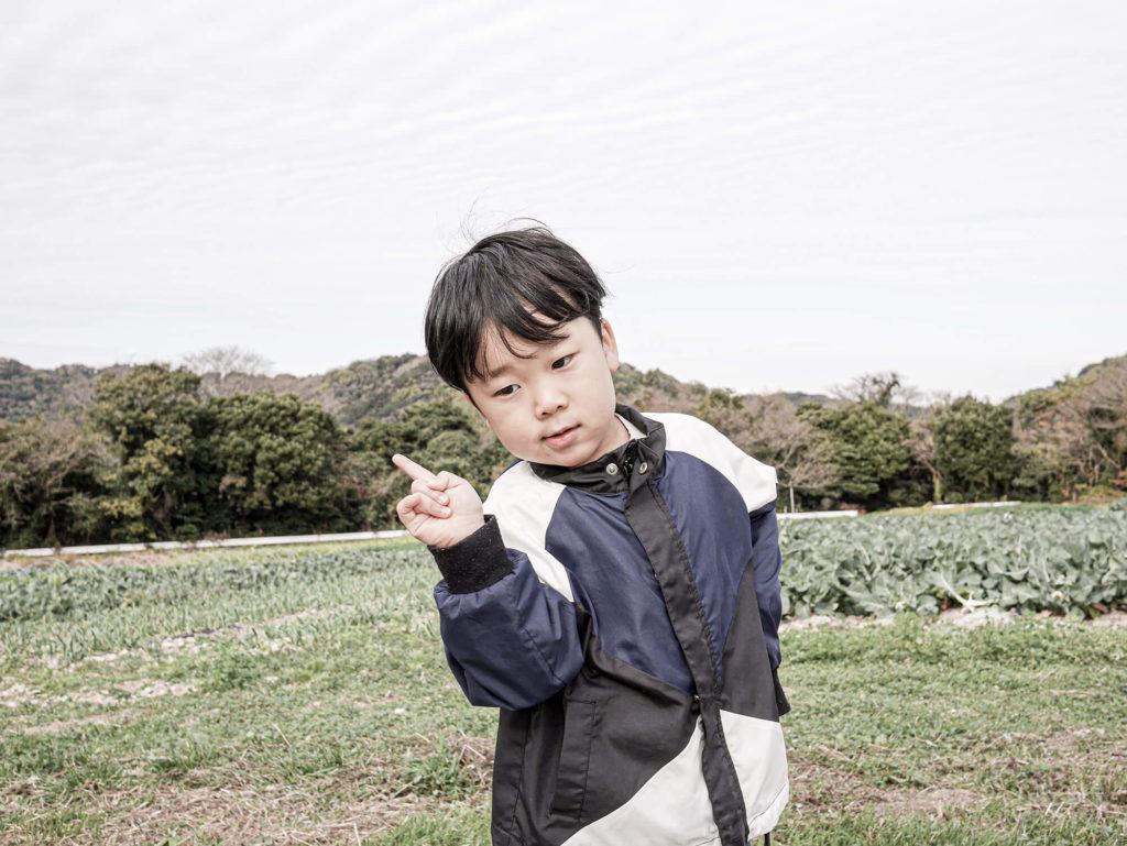 農業体験に参加した息子