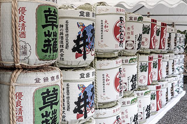 熱田神宮の奉献酒樽